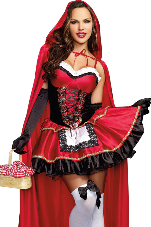 Costumes - Dreamgirl 2 Pce Little Red Stunning Hood