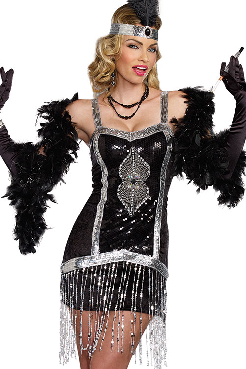 Costumes - Dreamgirl 2 Pce Flapper Costume