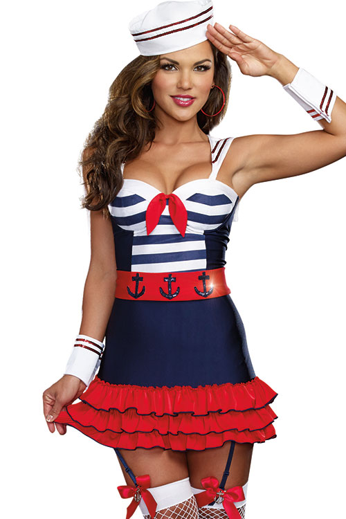 Costumes - Dreamgirl 5 Pce Cutie Sailor Costume