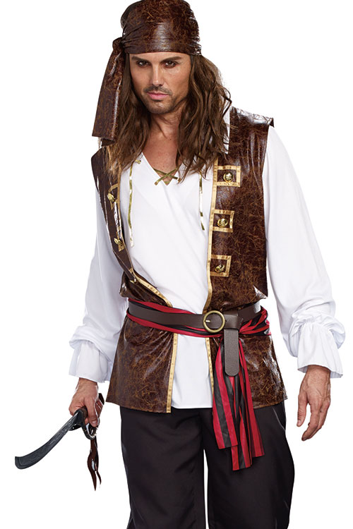 Costumes - Dreamgirl 5 Pce Sea Worth Pirate Costume