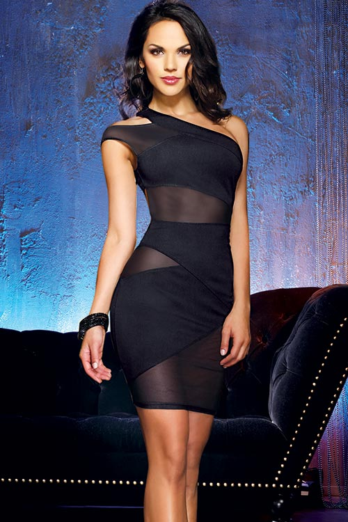 Lingerie - Dreamgirl Black Crush Mini Dress