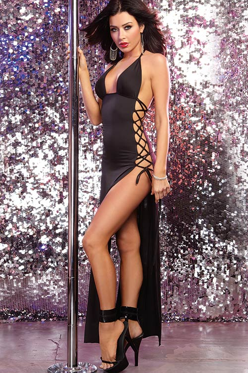 Lingerie - Dreamgirl Erotic Halter Long Dress