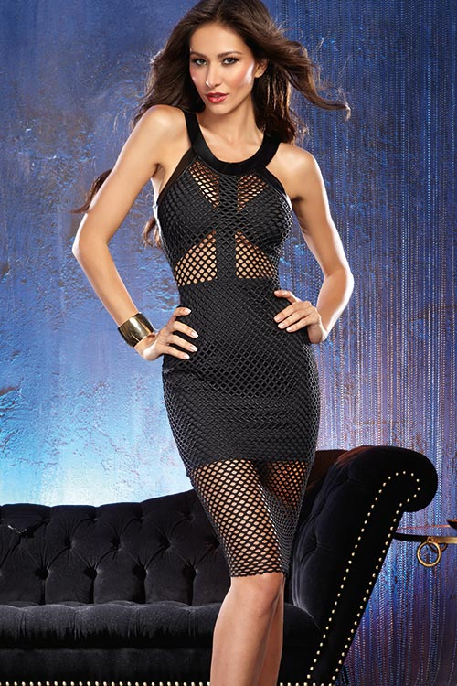 Lingerie - Dreamgirl Black Bodycon Dress