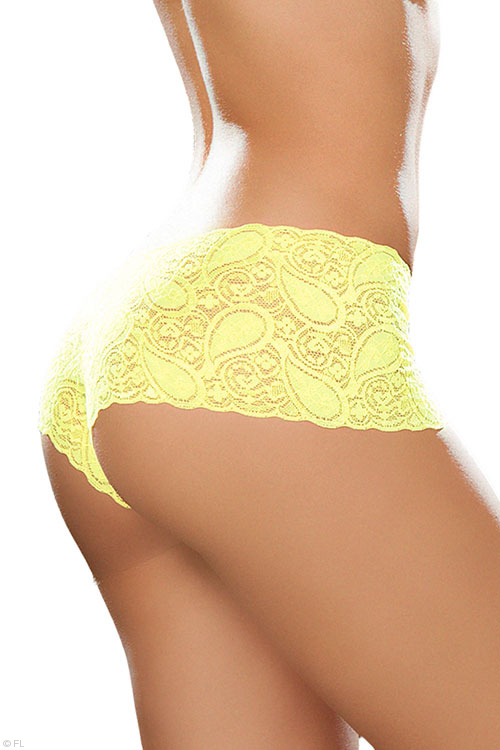 Lingerie - Mapale by Espiral Paisley Lace Boyshort