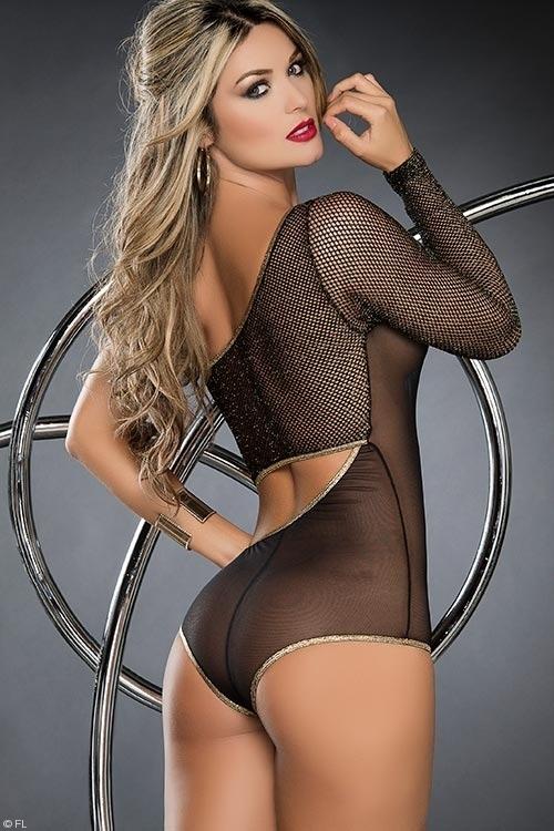Lingerie - Mapale by Espiral Asymmetrical Bodysuit