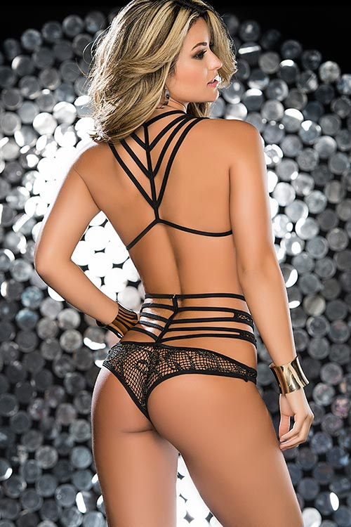 Lingerie - Mapale by Espiral Shimmering Fishnet Top with Panty