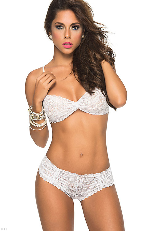 Lingerie - Mapale by Espiral Lace Top with Cheeky Cut Panty