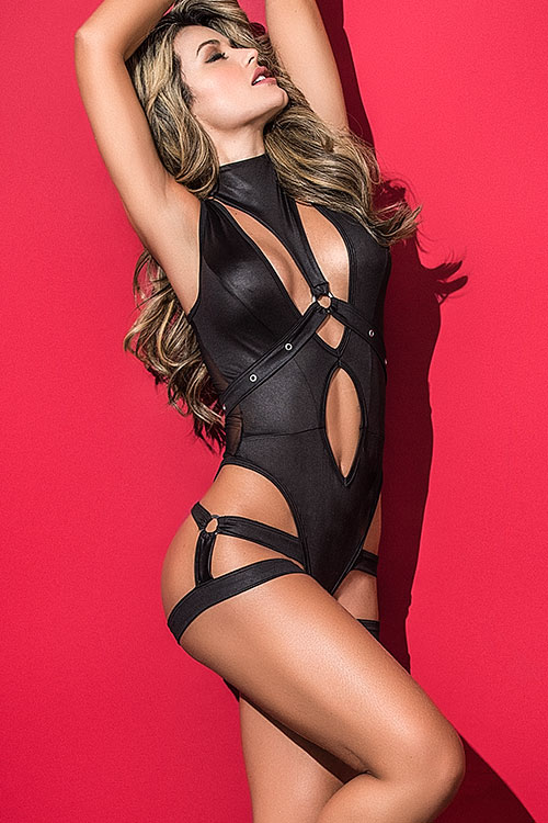 Uncaged Bodysuit with Removable Harness