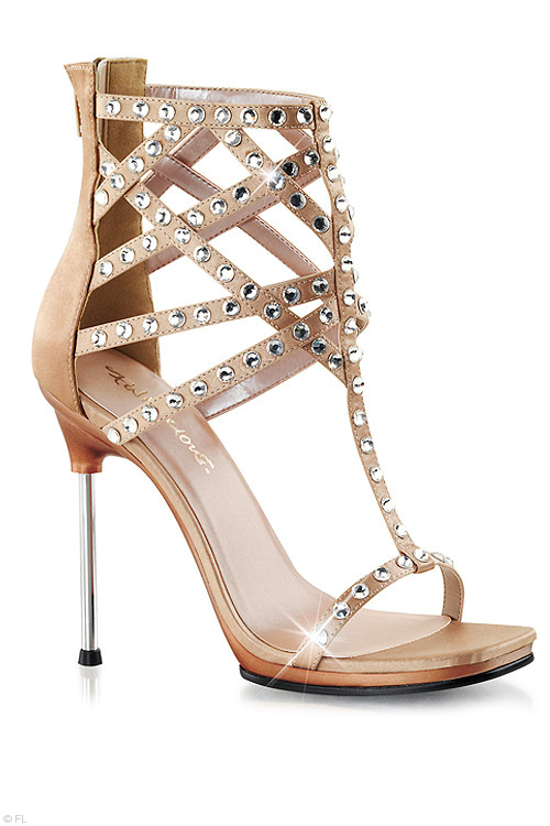 Footwear - Fabulicious High Cage Sandal with 4 1/2
