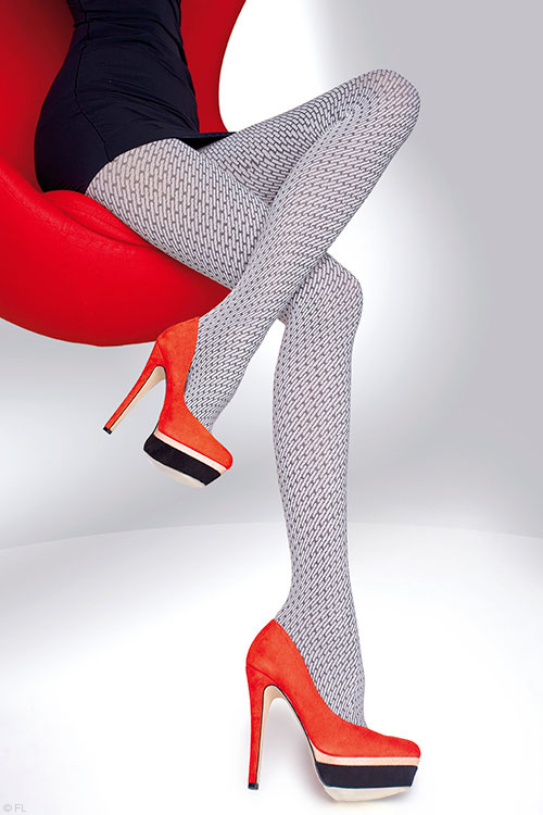 Lingerie - Fiore Sonella Patterned Pantyhose