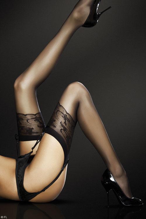 Lingerie - Fiore Jordana  Sheer Thigh Highs