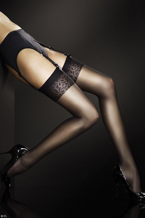 Lingerie - Fiore Adora Sheer Thigh Highs in Tan, White, Black