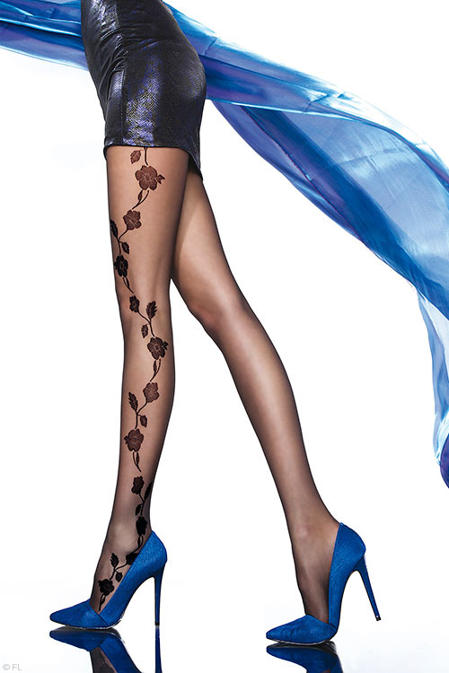 Fiore Rogeria Patterned Pantyhose