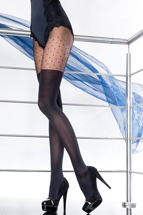 Lingerie - Fiore Diuna Patterned Pantyhose