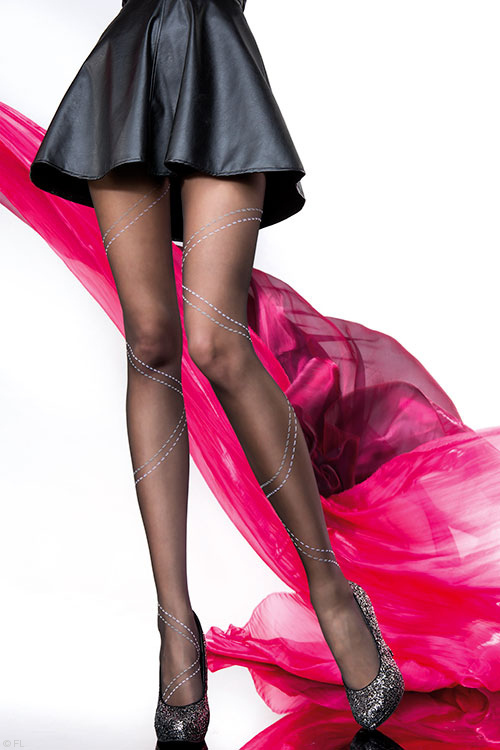 Lingerie - Fiore Petra Patterned Pantyhose