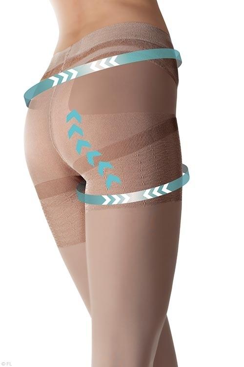 Lingerie - Fiore Shaping Effect Short Legging in Black & Natural