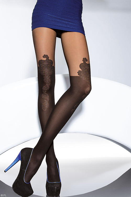 Lingerie - Fiore Carrie Patterned Pantyhose