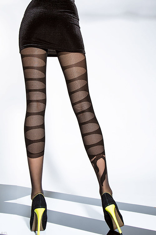 Lingerie - Fiore Darla Patterned Pantyhose