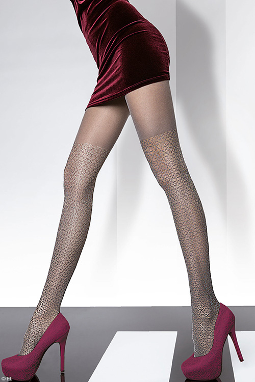 Lingerie - Fiore Gemira Satin Gloss Effect Pantyhose