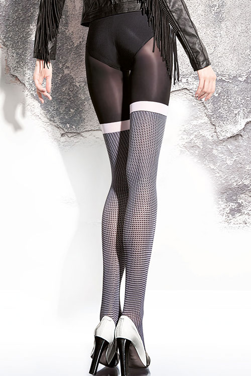 Lingerie - Fiore Patterned Pantyhose
