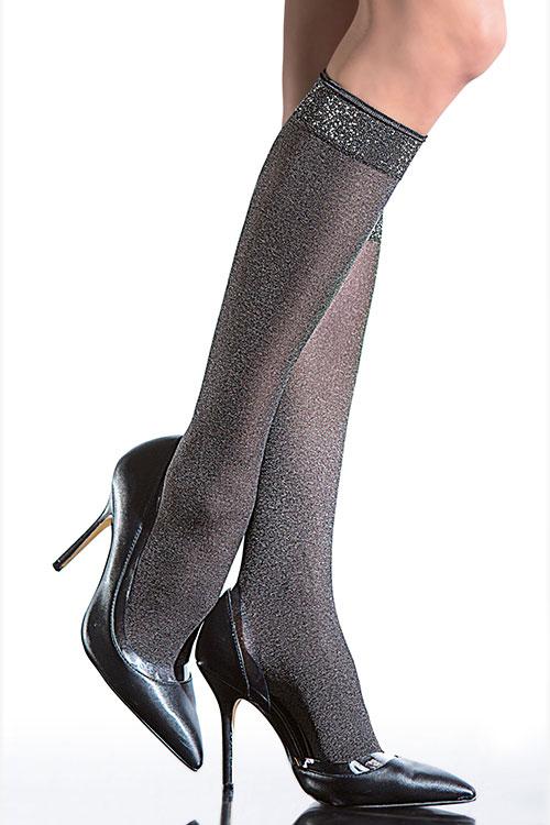 Lingerie - Fiore Opaque Knee High Socks