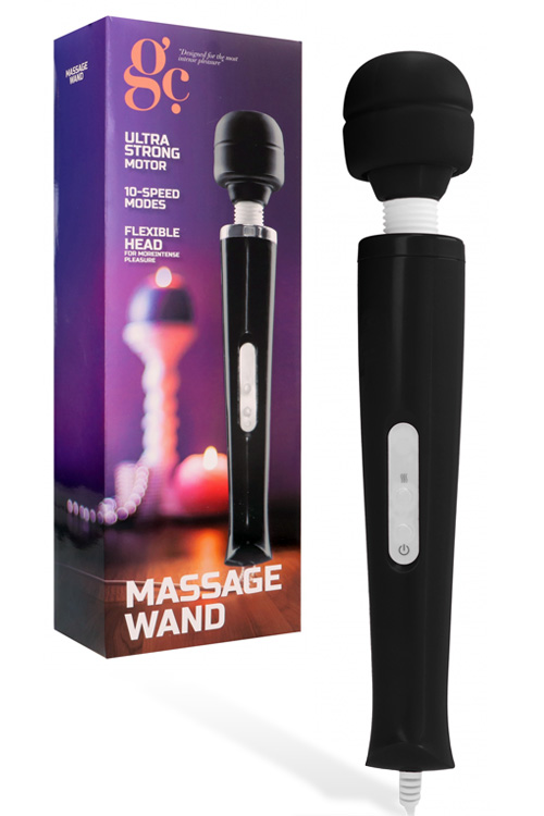 "Plug-In 12.6"" Wand Massager - Flexible Silicone Head"