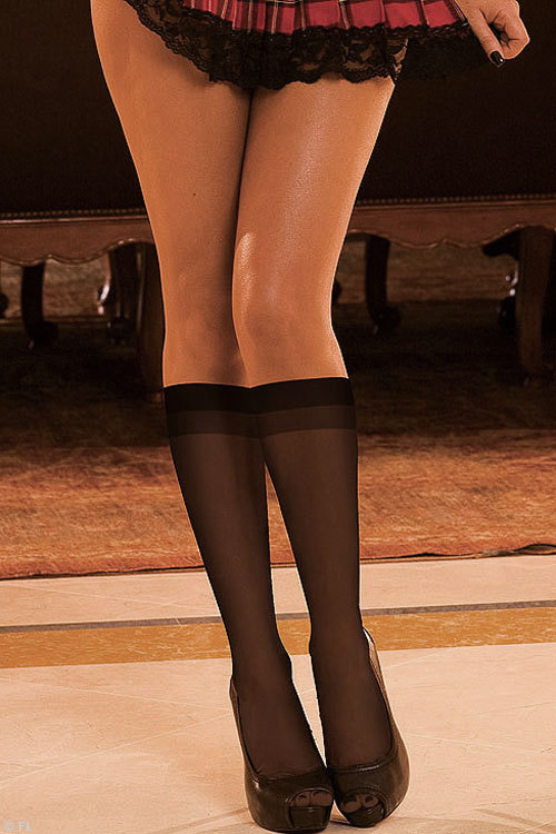 Hustler Lingerie Sheer Knee High Socks