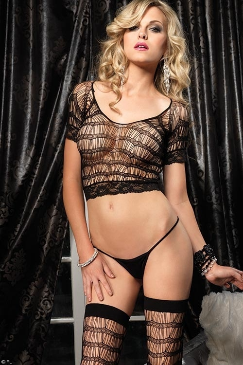Lingerie - Leg Avenue 3 Piece Bodystocking Set