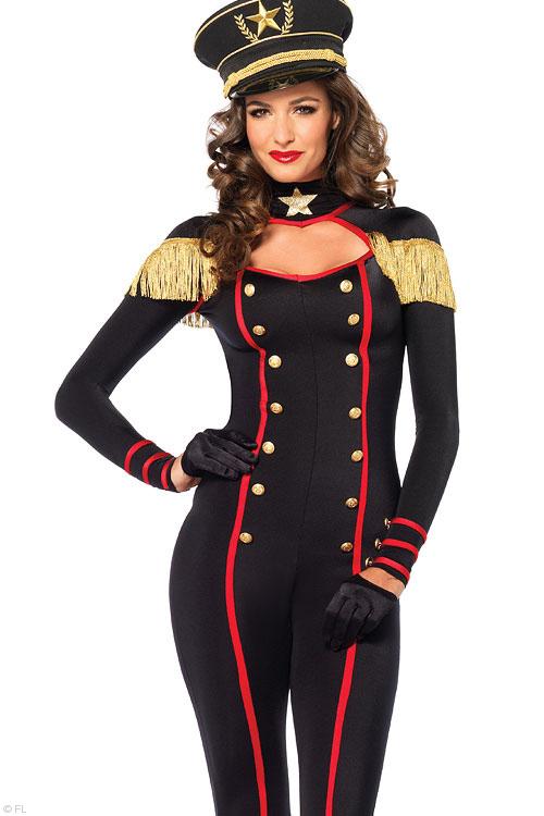 Costumes - Leg Avenue Military Catsuit Costume
