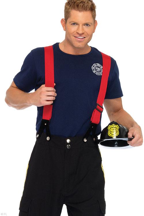 Costumes - Leg Avenue 3 Pce Fireman Costume