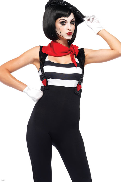 Costumes - Leg Avenue 3 Pce Mime Costume