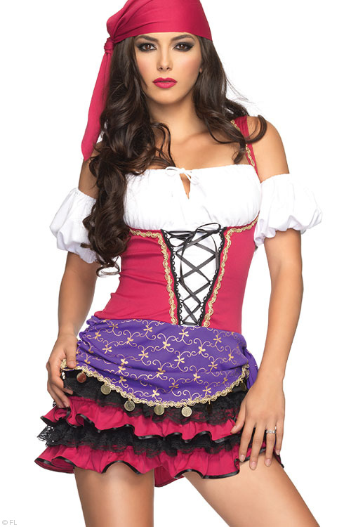Costumes - Leg Avenue 3 Pce Gypsy Costume