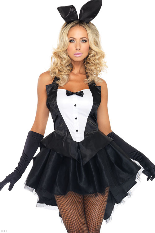 Costumes - Leg Avenue 3 Pce Bunny Tux Costume