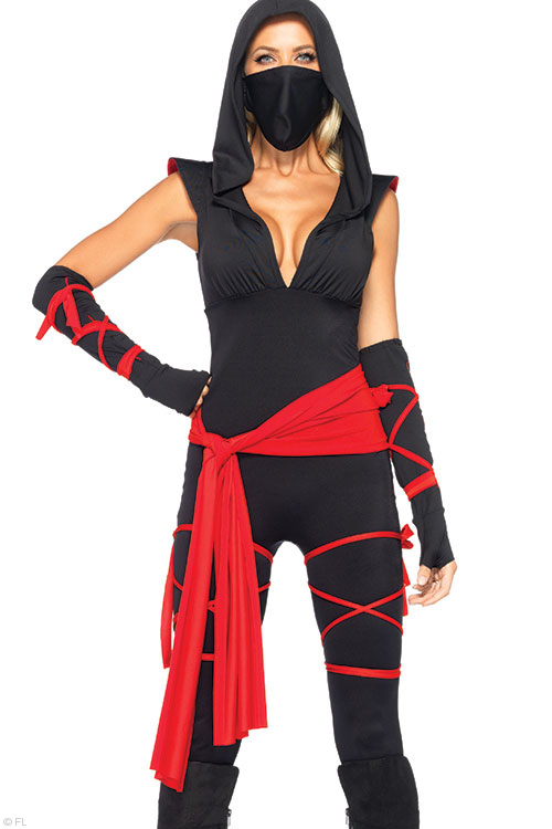 Costumes - Leg Avenue 4 Pce Ninja Costume