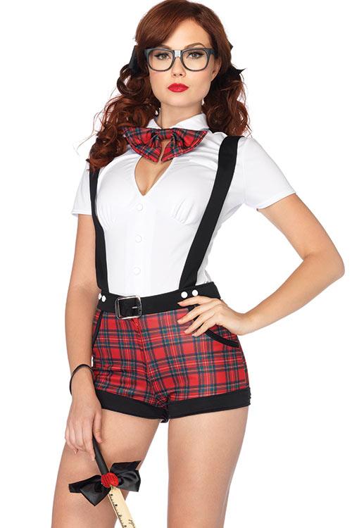 Costumes - Leg Avenue 4 Pce Cheeky Schoolgirl Costume