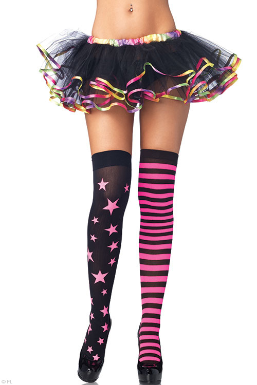Lingerie - Leg Avenue Stars & Stripes Thigh Highs