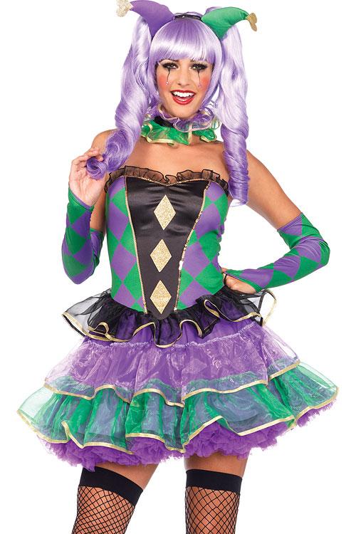 Costumes - Leg Avenue 5 Pce Harlequin Costume
