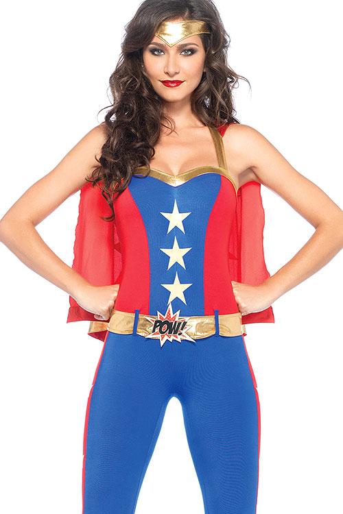 Costumes - Leg Avenue 3 Pce Superhero Costume