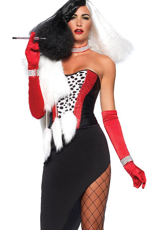 Costumes - Leg Avenue 5 Pce Cruella De Vil Costume