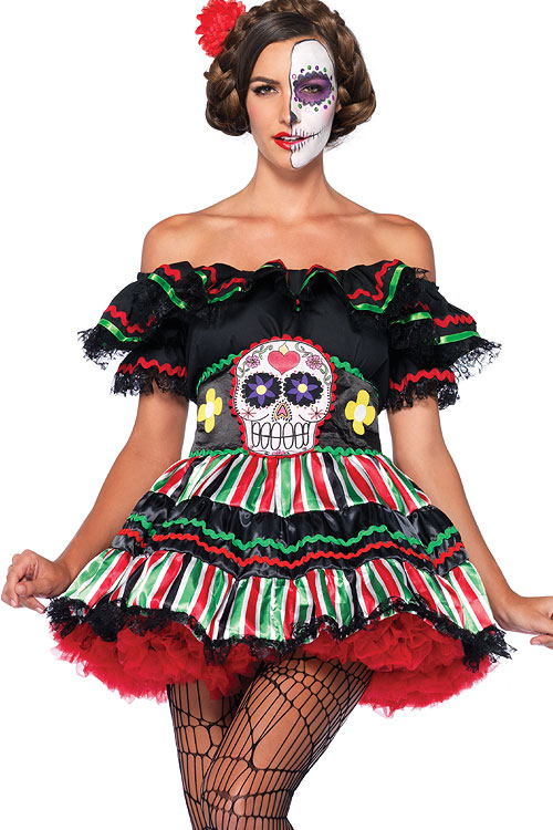 Costumes - Leg Avenue 2 Pce Day of The Dead Costume