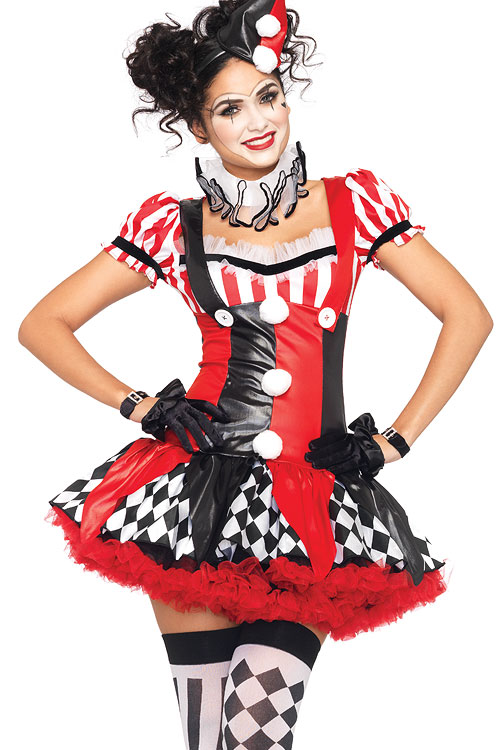Costumes - Leg Avenue 3 Pce Harlequin Clown Costume