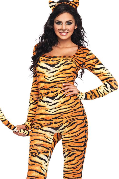 Costumes - Leg Avenue 2 Pce Wild Tiger Catsuit