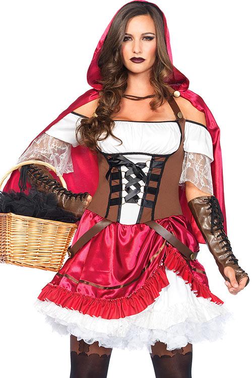 Costumes - Leg Avenue 2 Pce Rebel Riding Hood Costume