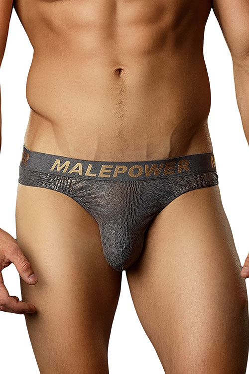 Lingerie - Male Power Croc Foil Low Rise Thong