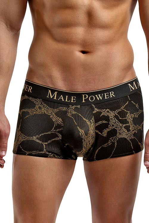 Lingerie - Male Power Black Gold Boxer