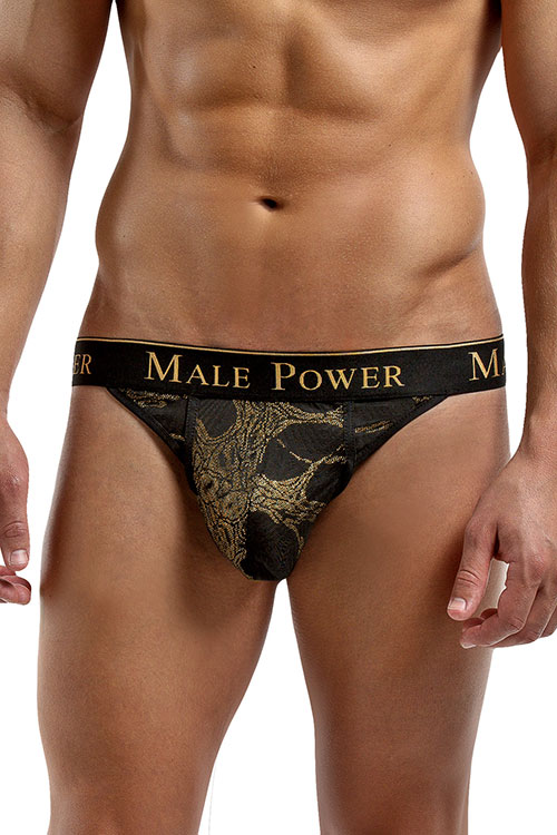 Lingerie - Male Power Black Gold Thong