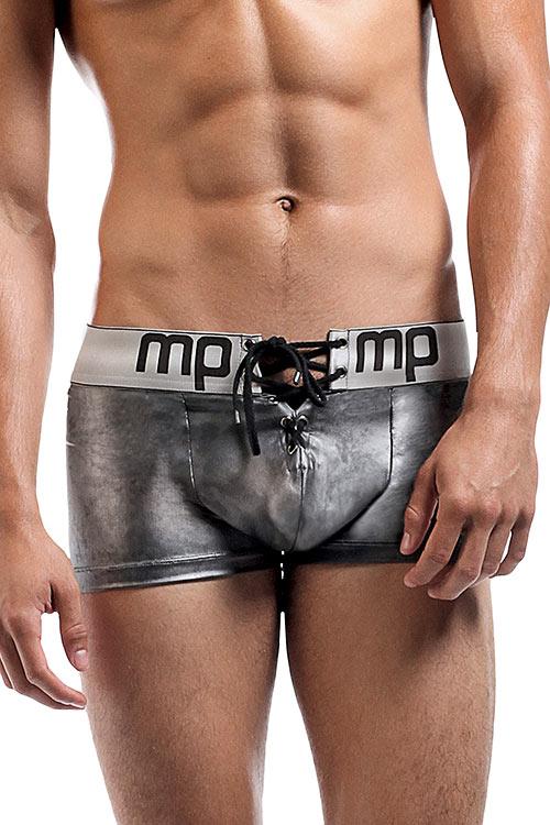 Lingerie - Male Power Molten Steel Lace Up Boxer