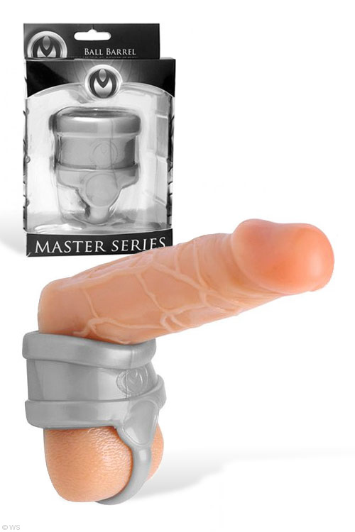 His Toys - Master Series Barrel Divided Scrotum Stretcher