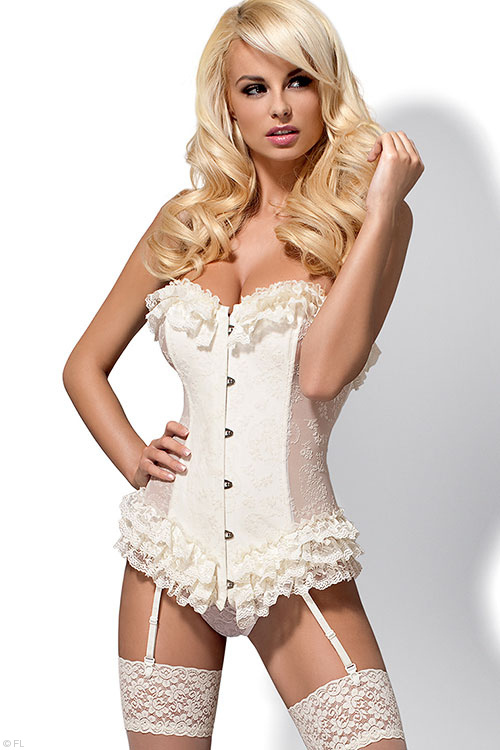 Lingerie - Obsessive Baletti Corset with Thong