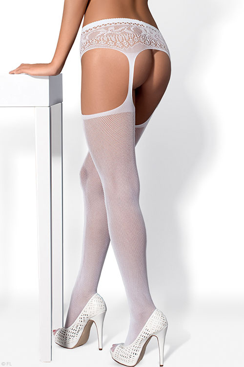 Lingerie - Obsessive Thigh High Combined with Garter Belt Hosiery